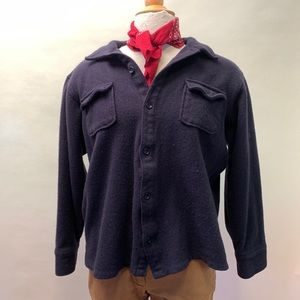 Banana Republic wool flannel button-up boxy fit
